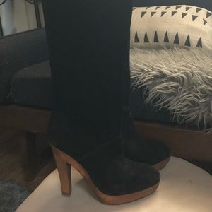 Black Suede Michael Kors knee high boots